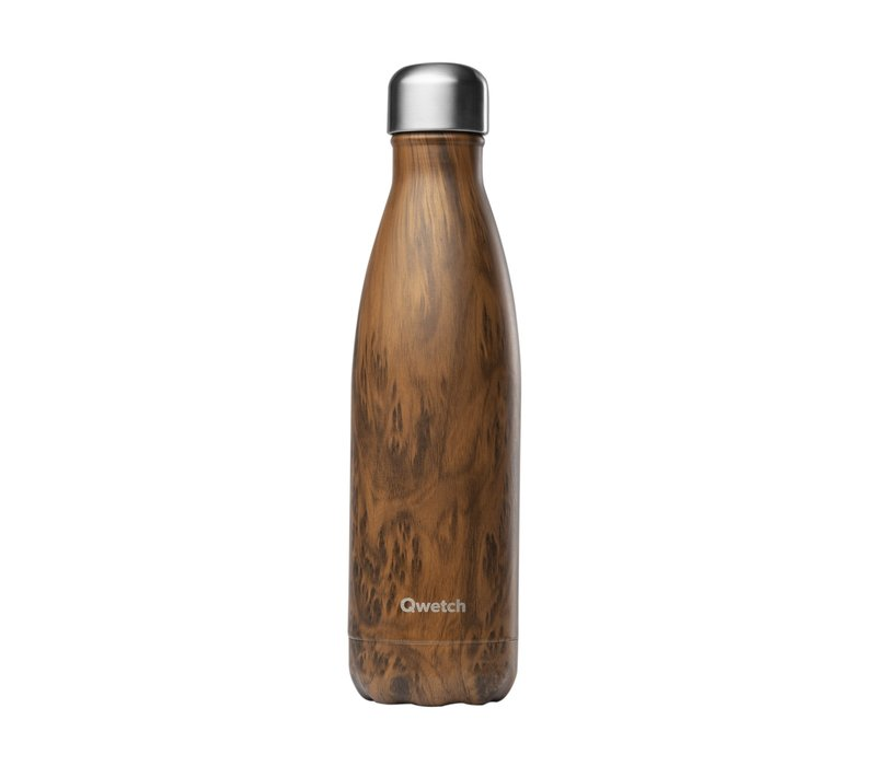 Qwetch Thermosfles 500ml - Wood