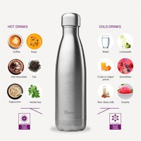 Qwetch Insulated Bottle 500ml - Wood