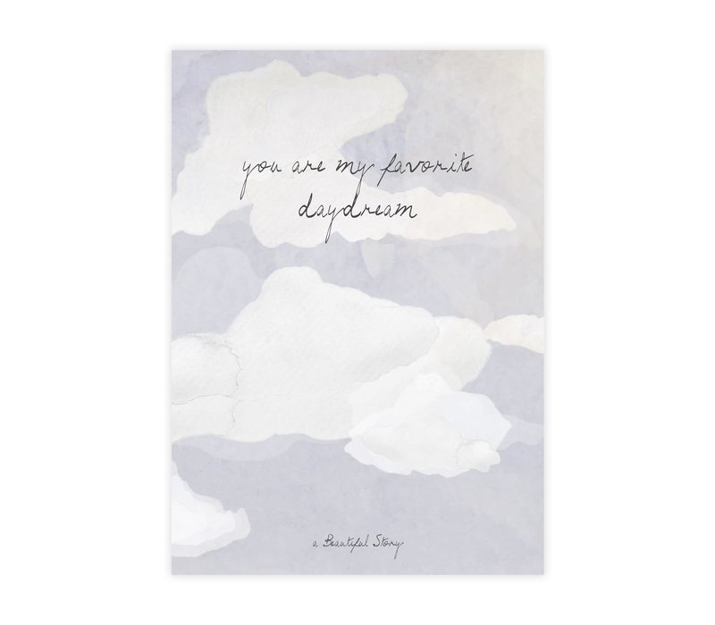 A Beautiful Story Greeting Card - Clouds
