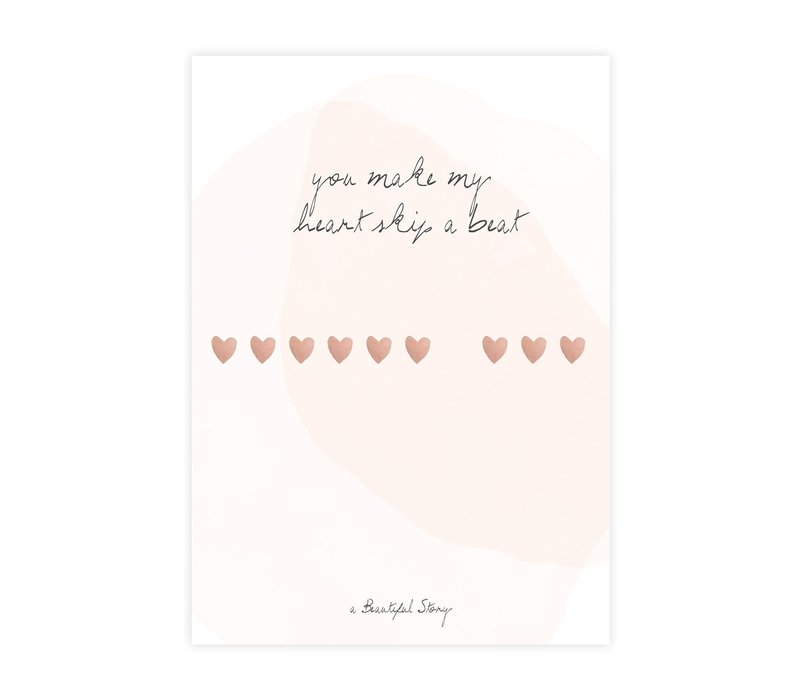 A Beautiful Story Greeting Card - Heartbeats