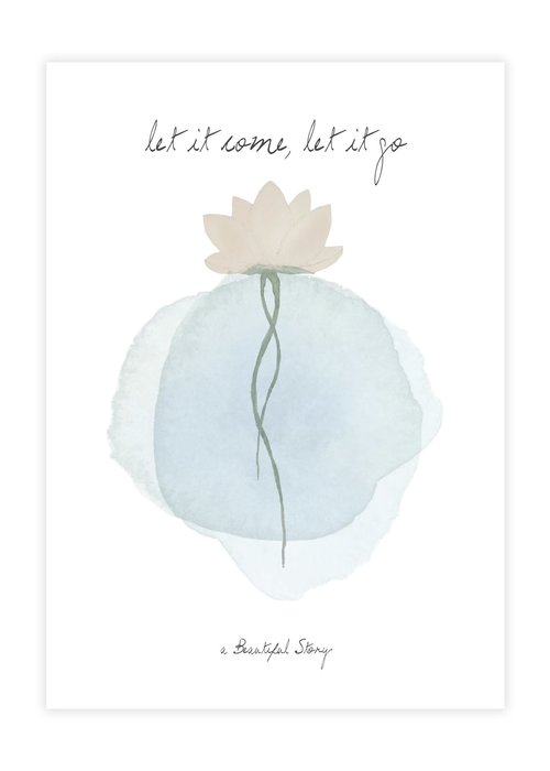 A Beautiful Story A Beautiful Story Karte - Lotus Aquarell