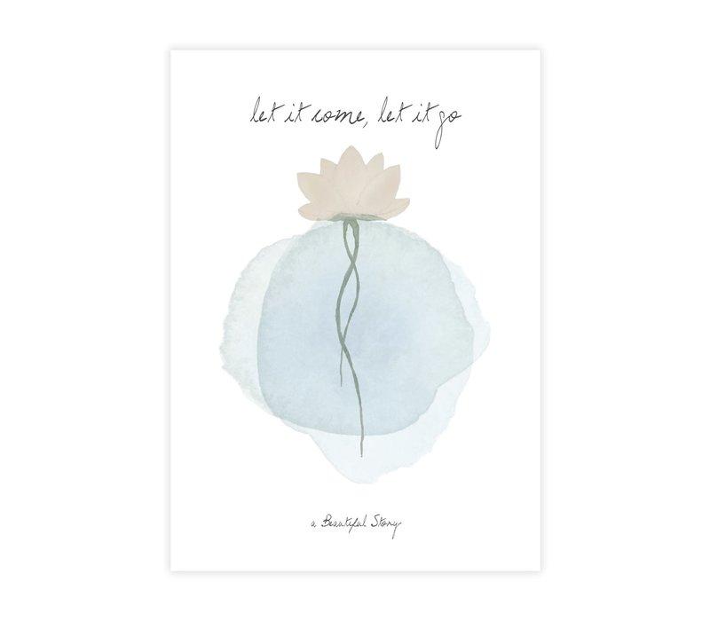 A Beautiful Story Greeting Card - Lotus Watercolour