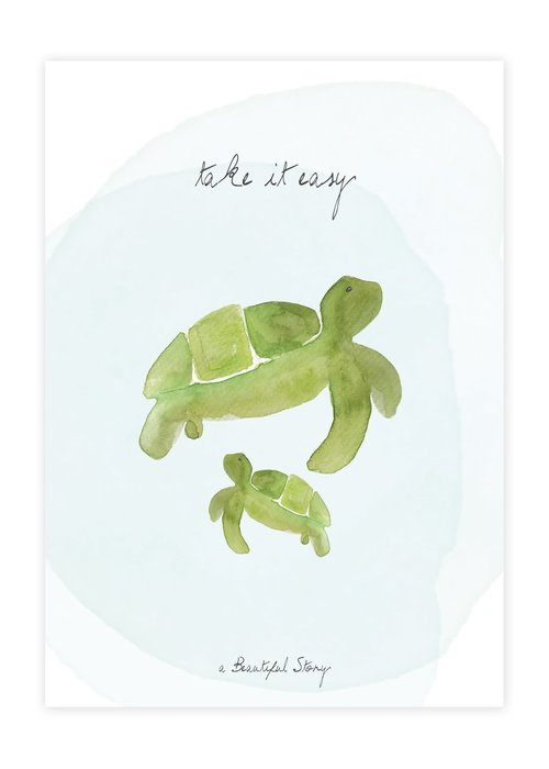 A Beautiful Story A Beautiful Story Greeting Card - Turtles