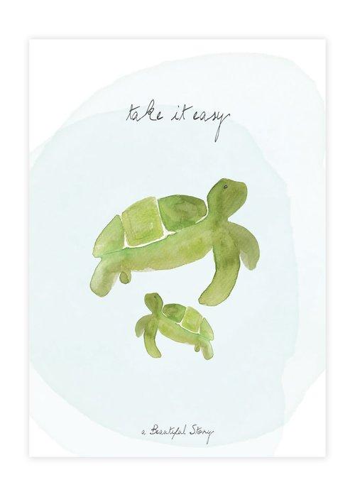 A Beautiful Story A Beautiful Story Karte - Schildkröten Aquarell