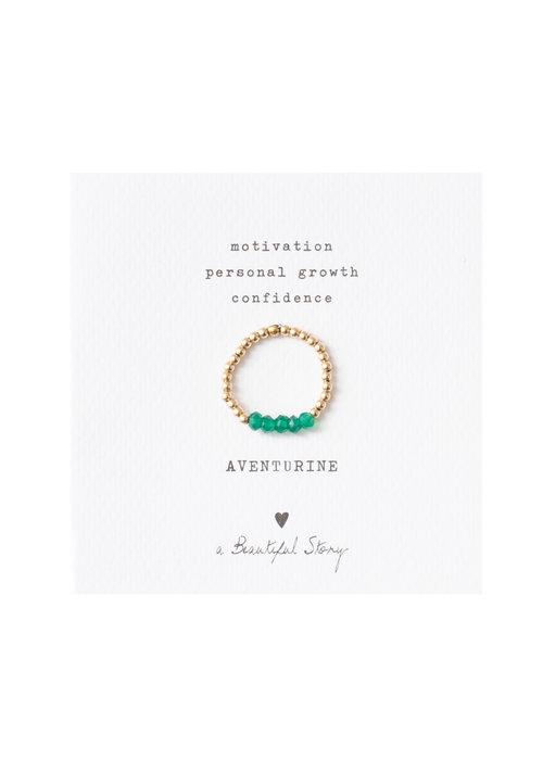 A Beautiful Story A Beautiful Story Beauty Gold Ring - Aventurine