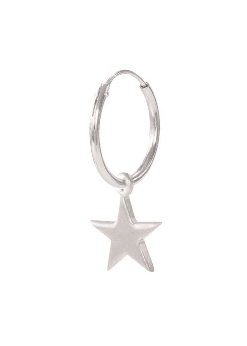 A Beautiful Story A Beautiful Story Big Star Sterling Silver Earring