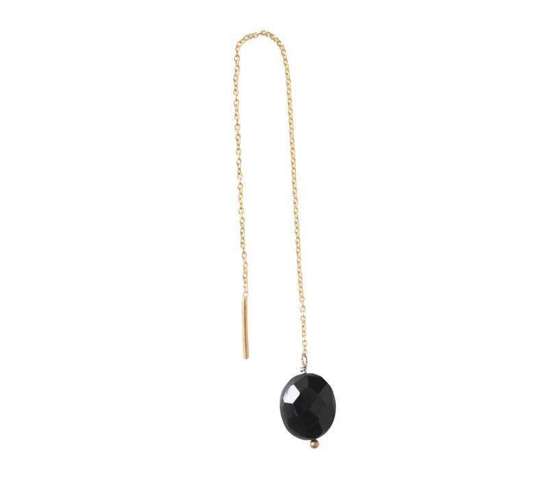 A Beautiful Story Elegant Sterling Silver Earring - Black Onyx