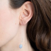 A Beautiful Story Elegant Sterling Silver Earring - Blue Lace Agate