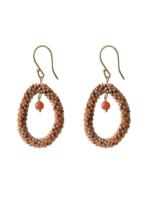 A Beautiful Story A Beautiful Story Faith Gold Earring - Carnelian