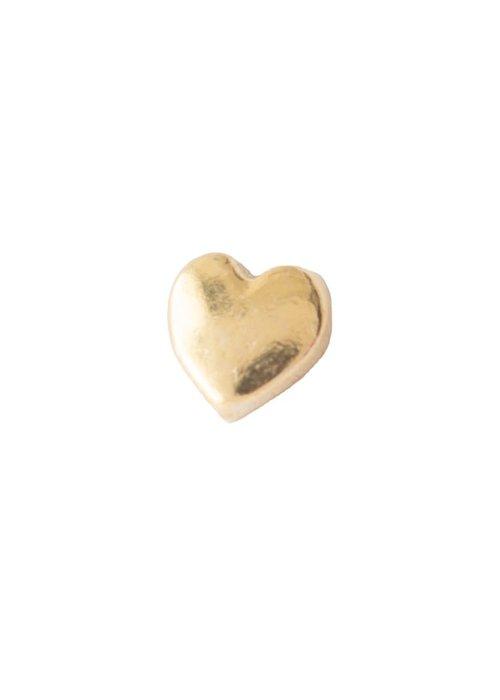 A Beautiful Story A Beautiful Story Sterling Zilver Vergulden Oorbel - Heart