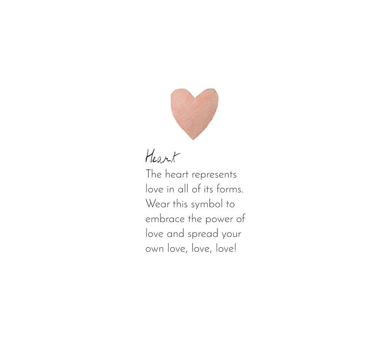 A Beautiful Story Sterling Zilver Vergulden Oorbel - Heart