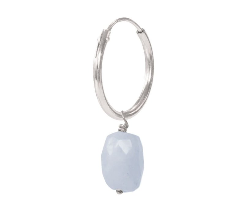 A Beautiful Story Sterling Silver Earring - Blue Lace Agate
