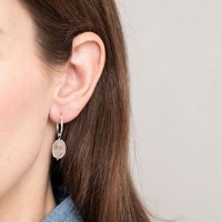 A Beautiful Story Sterling Silver Earring - Rose Quartz