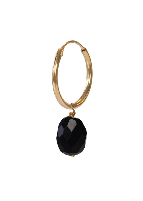 A Beautiful Story A Beautiful Story Sterling Silver Gold-plated Earring - Black Onyx