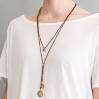 A Beautiful Story Fairy Gold Necklace - Tiger Eye
