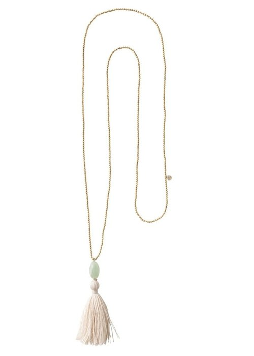 A Beautiful Story A Beautiful Story Happy Gold Necklace - Aventurine