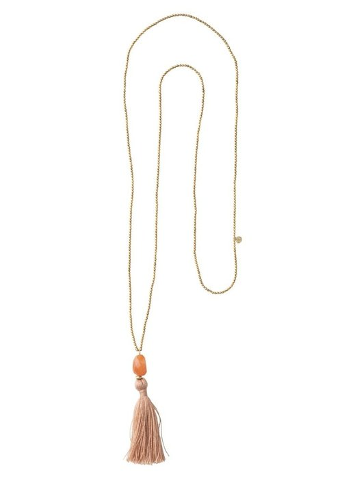 A Beautiful Story A Beautiful Story Happy Gold Necklace - Carnelian