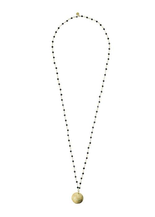 A Beautiful Story A Beautiful Story Rosary Gouden Ketting - Zwarte Onyx