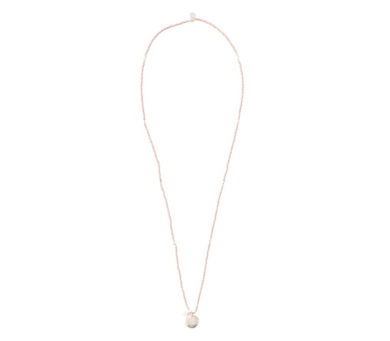 A Beautiful Story Truly Silver Necklace - Rose Quartz