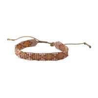 A Beautiful Story Breezy Gold Bracelet - Carnelian