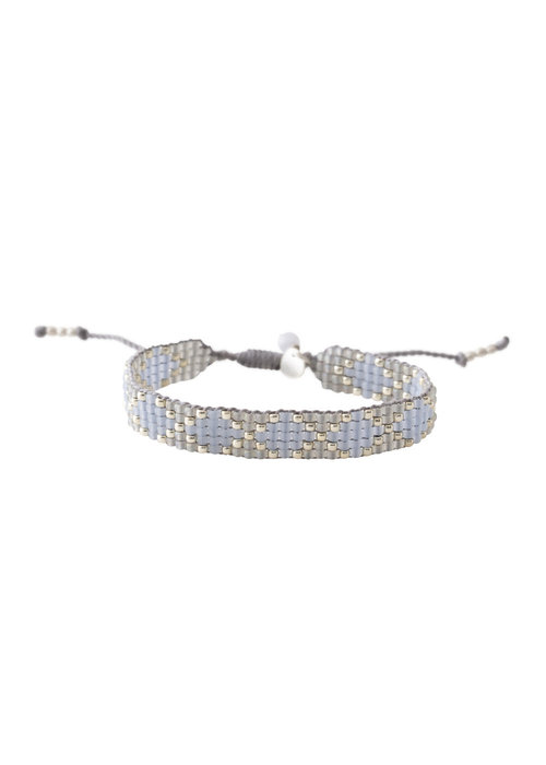 A Beautiful Story A Beautiful Story Breezy Silver Bracelet - Blue Lace Agate