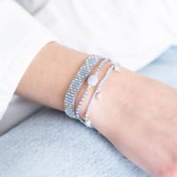 A Beautiful Story Breezy Zilveren Armband - Blauwe Agaat