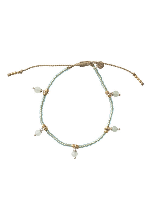 A Beautiful Story A Beautiful Story Dreamy Gold Bracelet - Aventurine