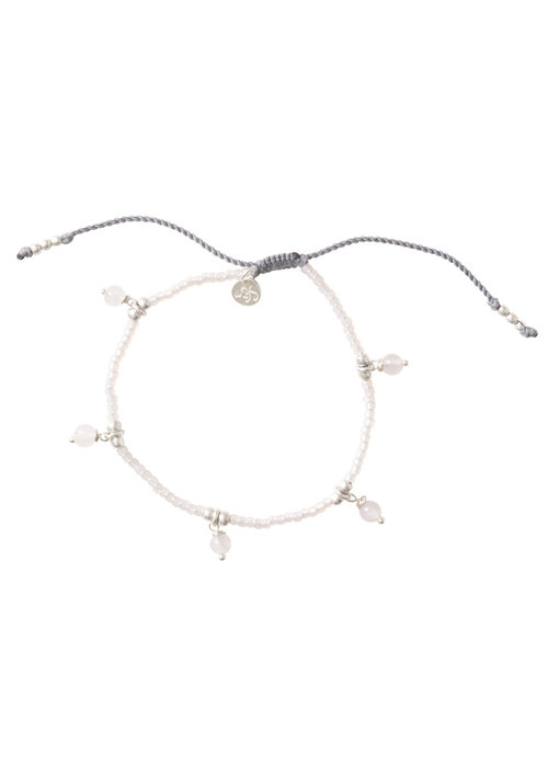 A Beautiful Story A Beautiful Story Dreamy Silver Bracelet - Rose Quartz