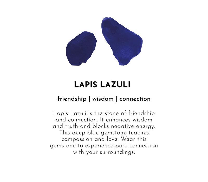 A Beautiful Story Edelsteen Kaart - Lapis Lazuli Zilveren Armband