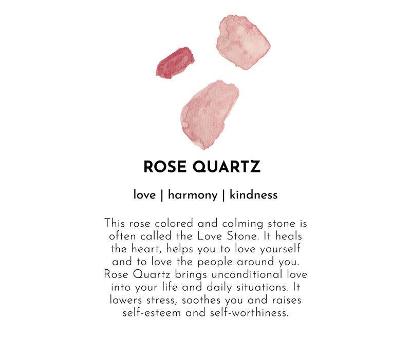 A Beautiful Story Gemstone Card - Rose Quartz Silver Bracelet