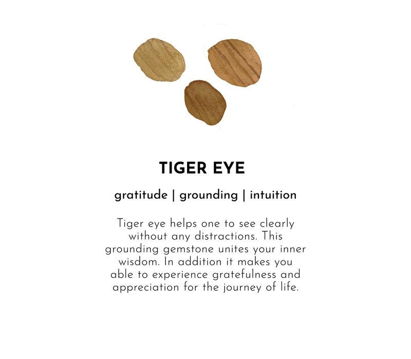 A Beautiful Story Gemstone Card - Tiger Eye Gold Bracelet