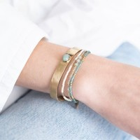 A Beautiful Story Gentle Gouden Armband - Aventurijn