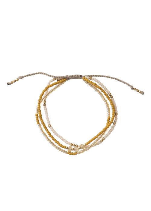 A Beautiful Story A Beautiful Story Gentle Gouden Armband - Citrien