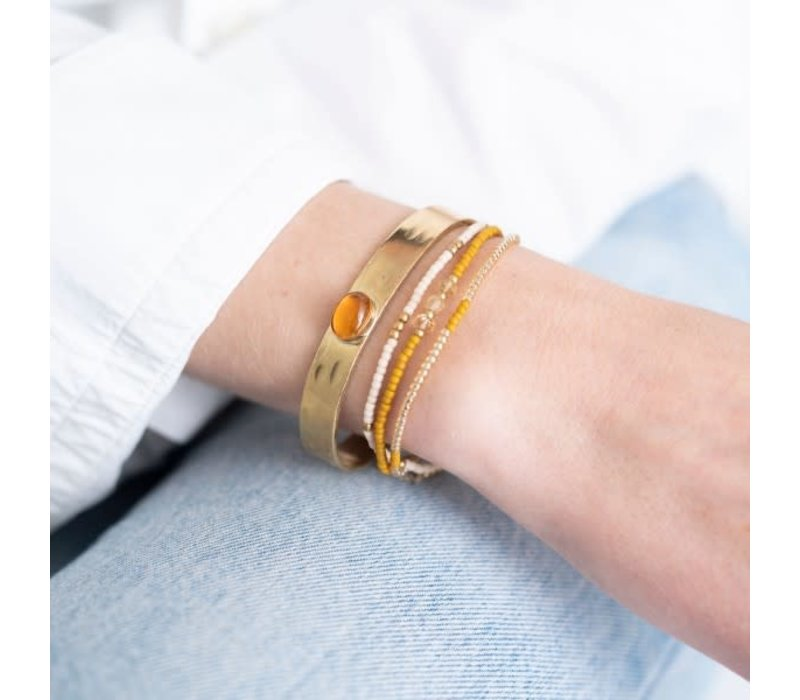 A Beautiful Story Gentle Gouden Armband - Citrien