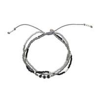 A Beautiful Story Gentle Zilveren Armband - Zwarte Onyx