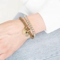 A Beautiful Story Jetty Gouden Armband - Aventurijn