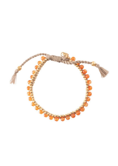 A Beautiful Story A Beautiful Story Jetty Gold Bracelet - Carnelian