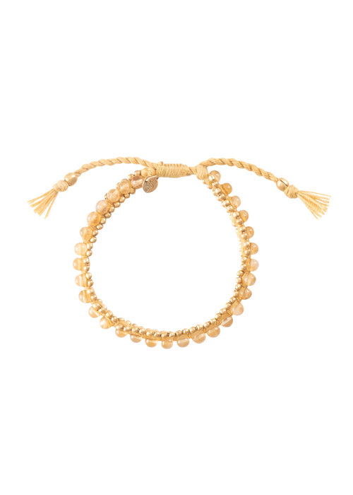 A Beautiful Story A Beautiful Story Jetty Gold Bracelet - Citrine
