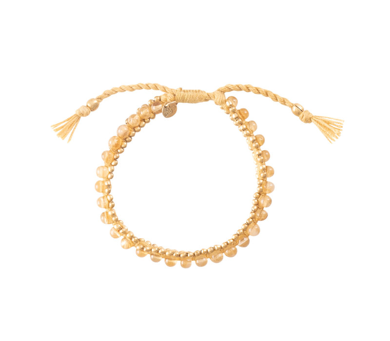 A Beautiful Story Jetty Gold Bracelet - Citrine