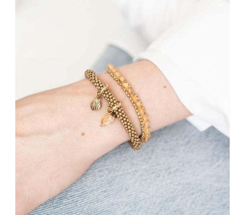 A Beautiful Story Jetty Gouden Armband - Citrien