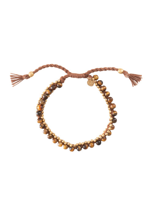 A Beautiful Story A Beautiful Story Jetty Gold Bracelet - Tiger Eye
