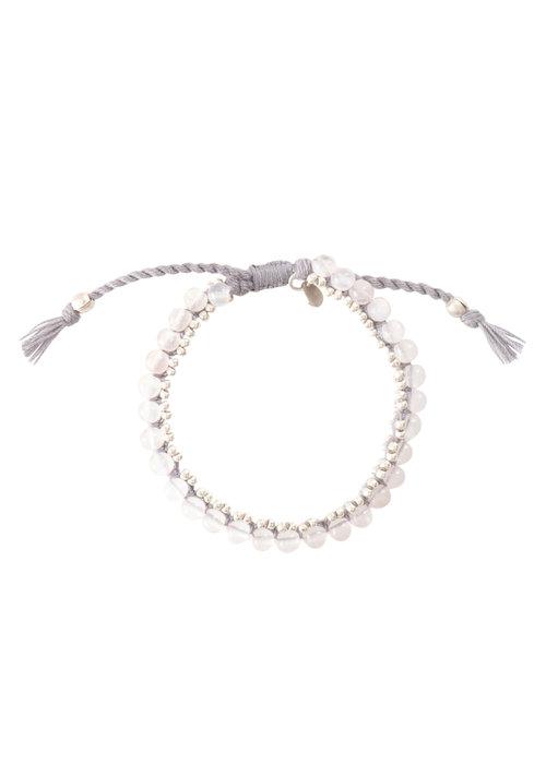 A Beautiful Story A Beautiful Story Jetty Silver Bracelet - Rose Quartz