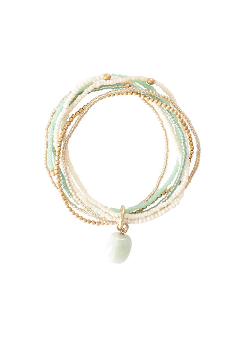 A Beautiful Story A Beautiful Story Nirmala Gold Bracelet - Aventurine