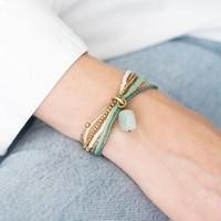 A Beautiful Story Nirmala Gouden Armband - Aventurijn