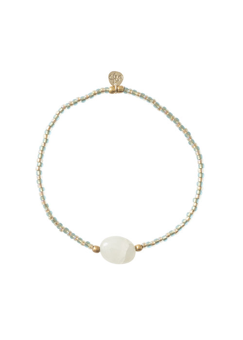A Beautiful Story A Beautiful Story Summer Gold Bracelet - Aventurine