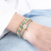 A Beautiful Story Summer Gold Bracelet - Aventurine