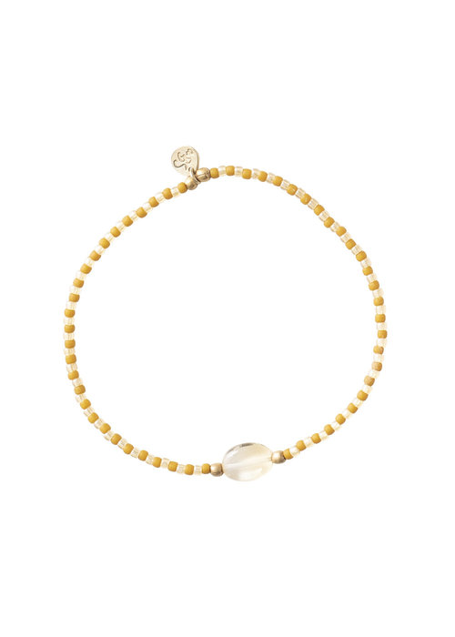 A Beautiful Story A Beautiful Story Summer Gouden Armband - Citrien