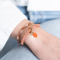 A Beautiful Story Sunlight Gold Bracelet - Carnelian