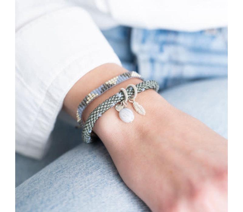A Beautiful Story Sunlight Silver Bracelet - Blue Lace Agate