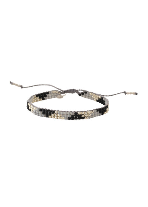 A Beautiful Story A Beautiful Story Sunlight Silver Bracelet - Black Onyx